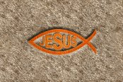 "DashMat® - Embroidery ""Fish with Jesus"" Logo"