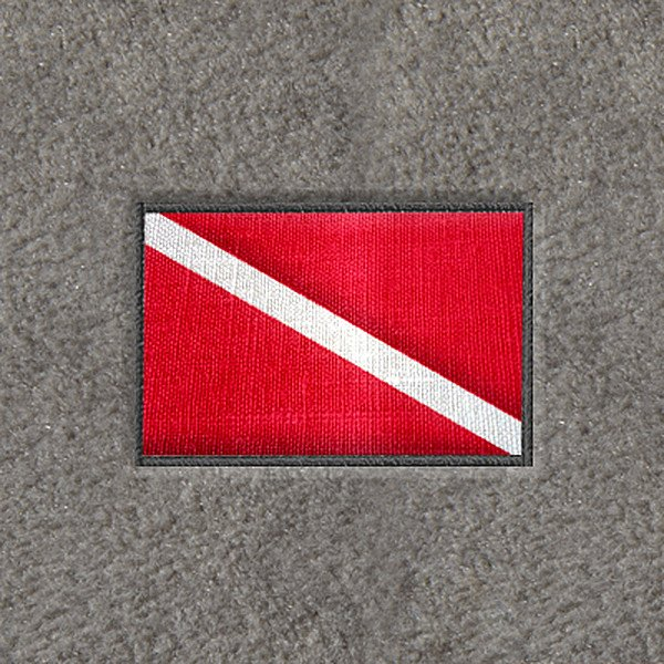 "DashMat® - Embroidery ""Dive Flag"" Logo"
