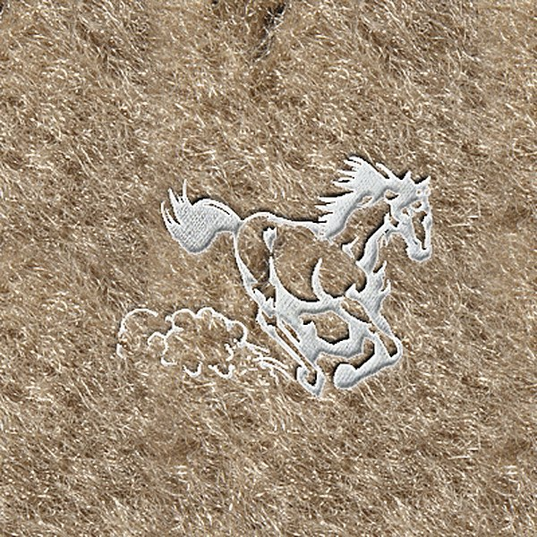 "DashMat® - Embroidery ""Running Horse"" White Logo"