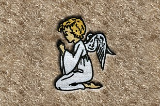 "DashMat® LS443 - ""Angel Praying"" Embroidered Logo"