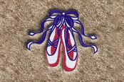 "DashMat® - Embroidery ""Ballet Slippers"" Logo"