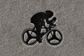 "DashMat® - Embroidery ""Bicyclist"" Black Logo"