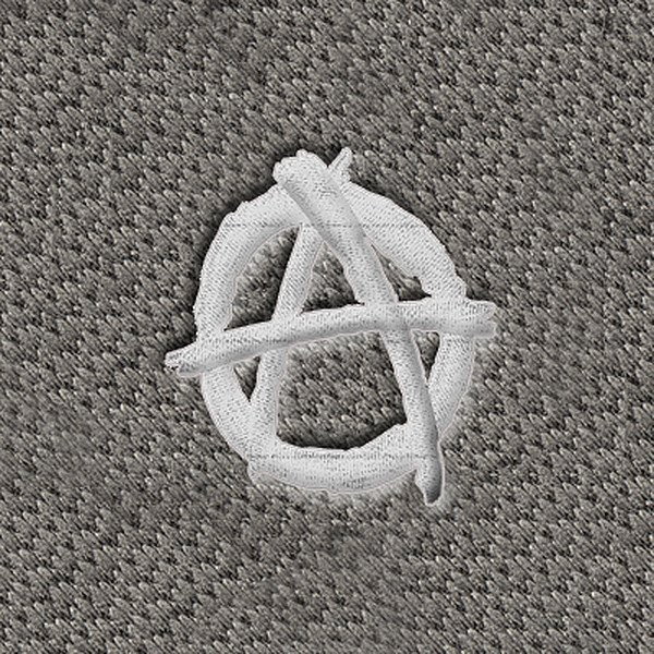"DashMat® - Embroidery ""Anarchy"" White Logo"