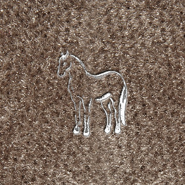 "DashMat® - Embroidery ""Quarter Horse"" White Logo"