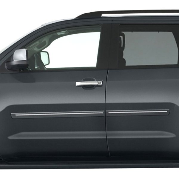 "Toyota Sequoia Chromeline Painted Body Side Molding 2008: Toyota Sequoia 2008 2.5"" Wide Body Side Moldings"