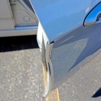 "Dawn® - 0.420"" Wide U-Shape Solid Chrome Door Edge Guard"
