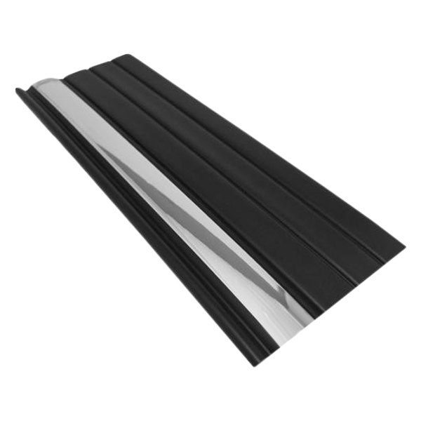 "Dawn® - 1999-2002 Silverado Style 3"" Wide Matte Black Factory Match Molding with Upper Chrome Strip"