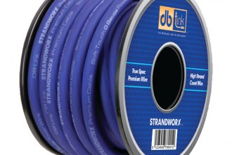 db Drive® - Strandworx™ Soft Touch Power/Ground Wire (0 Gauge, 50', Blue Power)