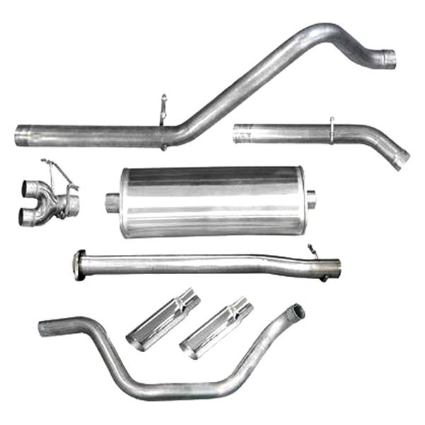 dB® - Sport Polished Stainless Steel Cat-Back Exhaust System - Dual Under the Bumper Exit