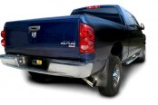 dB® - Sport Polished Stainless Steel Cat-Back Diesel Exhaust System - Single Side Exit Installed