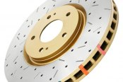DBA® - 4000XS Series™ Drilled and Slotted Front Rotor with Gold Hat