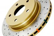 DBA® - 5000XS Series™ Drilled and Slotted Rear Rotor with Gold Hat