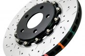 DBA® - 5000XS Series™ Drilled and Slotted Front Rotor with Black Hat