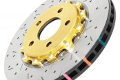 DBA® - 5000XS Series™ Drilled and Slotted Front Rotor with Gold Hat