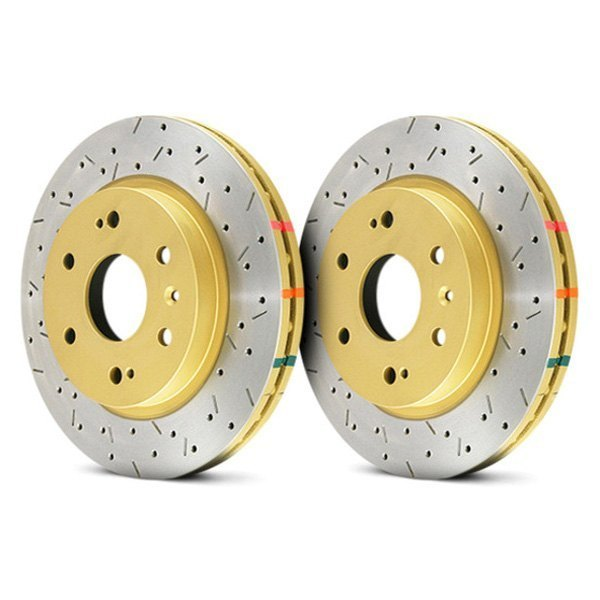 DBA® - HD Series™ 4000XS Series Drilled and Slotted 1-Piece Front Brake Rotor