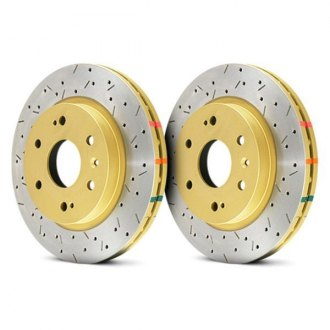 DBA® - HD Series™ 4000XS Series Drilled and Slotted 1-Piece Brake Rotor