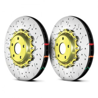 DBA® - HD Series™ 5000XS Series Drilled and Slotted Vented 2-Piece Front Brake Rotor