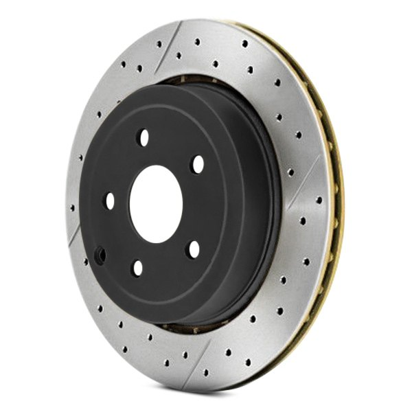 DBA® - Street Series™ X-GOLD Drilled and Slotted 1-Piece Rear Brake Rotor