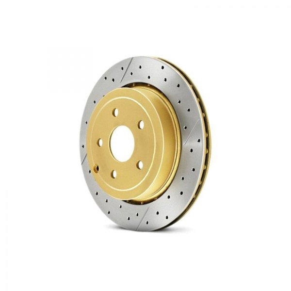 DBA® - Street Series™ X-GOLD Drilled and Slotted, Front Rotor