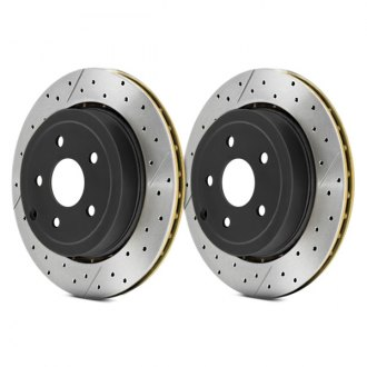 DBA® - Street Series™ X-GOLD Drilled and Slotted Vented 1-Piece Brake Rotor