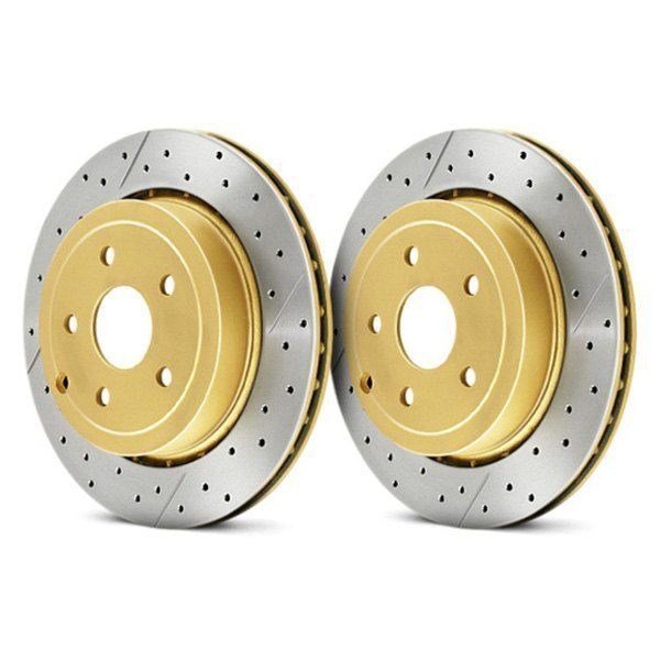 DBA® - Street Series™ X-GOLD Drilled and Slotted 1-Piece Front Brake Rotor