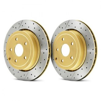 DBA® - Street Series™ X-GOLD Drilled and Slotted 1-Piece Brake Rotor