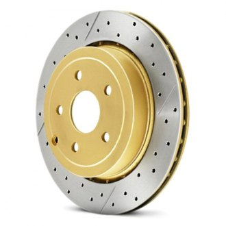 Image may not reflect your exact vehicle! DBA® - Street Series™ Vented XGold Drilled and Slotted Front Rotor