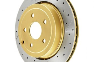 DBA® - Street Series™ Vented XGold Drilled and Slotted Front Rotor