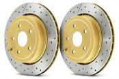 DBA® - Street Series™ XGold Drilled and Slotted Rotors
