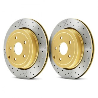 DBA® - Street Series™ XGold Drilled and Slotted Rotor