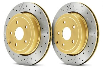 DBA® - Street Series™ Vented XGold Drilled and Slotted Rotor
