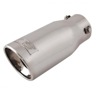 "DC Sports® - Stainless Steel Round Resonated Straight Cut Single Exhaust Tip (2.875"" ID, 3.75"" OD, 9"" Length)"