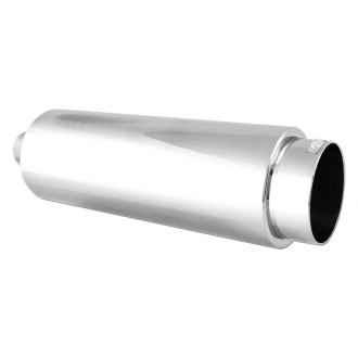 DC Sports® - 304 SS Round Polished Exhaust Muffler