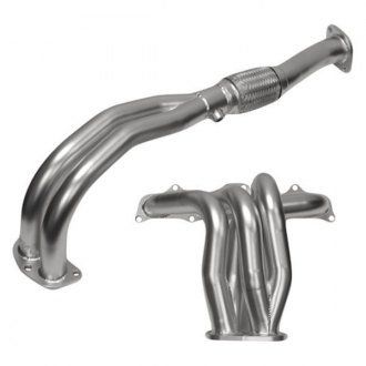 DC Sports® - Ceramic Coated 4-2-1 Two Piece Exhaust Header