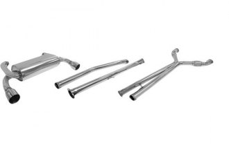 DC Sports® - Stainless Steel Cat-Back Exhaust System