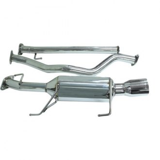 DC Sports® - Single Canister 304 SS Cat-Back Exhaust System