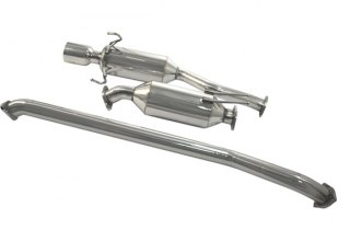 DC Sports® - Polished Stainless Steel Cat-Back Exhaust System