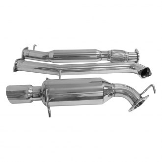 DC Sports® - Single Canister™ 304 SS Cat-Back Exhaust System with Single Rear Exit