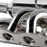 DC Sports® - Polished Stainless Steel Exhaust Header