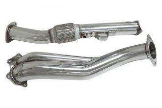 DC Sports® - Polished Stainless Steel Turbocharger Downpipe