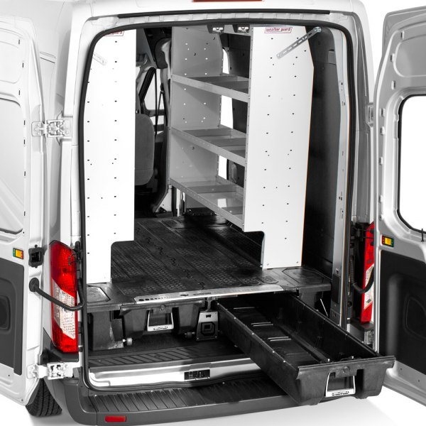 Decked ram promaster 2500 2015 cargo van storage system for Commercial van interior accessories
