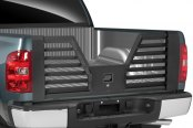 Dee Zee® - Black Louvered Flow-Thru Tailgate Installed