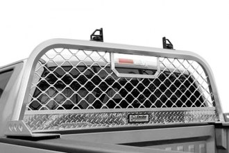 Image may not reflect your exact vehicle! Dee Zee® - Brite Aluminum Mesh Cab Rack Installed