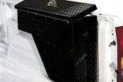 Dee Zee® - Wheel Well Black Diamond-Tread Aluminum Tool Box, Passenger Side