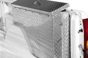 Dee Zee® - Wheel Well Brite Diamond-Tread Aluminum Tool Box, Passenger Side