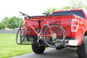 Image may not reflect your exact vehicle! Dee Zee® - Cargo Carrier Bike Rack Installed