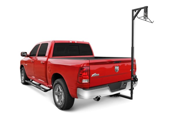 Image may not reflect your exact vehicle! Dee Zee® - Hitch Mounted Deer Hanger Installed