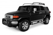 Image may not reflect your exact vehicle! Dee Zee® - Black Steel Bull Bar Installed on Toyota FJ Cruiser