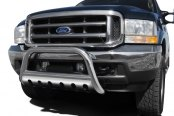 "Image may not reflect your exact vehicle! Dee Zee® - 3"" Polished Bull Bar with Skid Plate Installed"