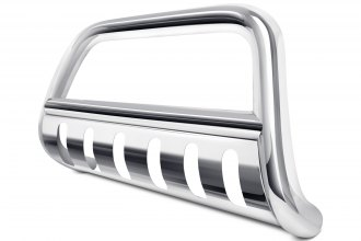 "Image may not reflect your exact vehicle! Dee Zee® - 3"" Polished Bull Bar with Skid Plate"